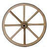 1082 - Wood Wagon Wheels, Wood Hub 16 inch